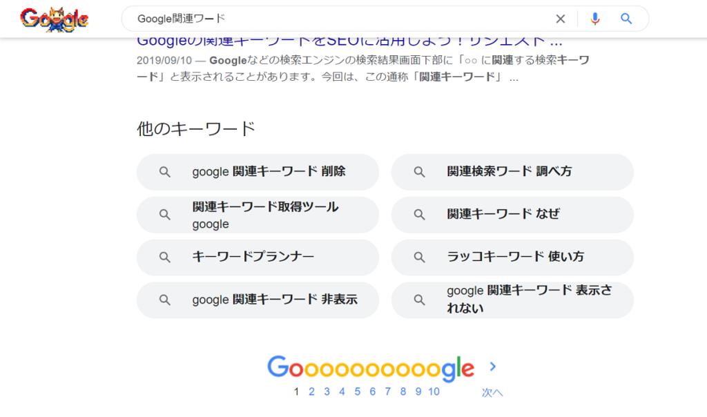 Google関連キーワードの画像